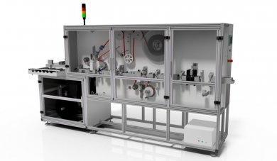 Automatyczna stacja podklejania taśm do listwy plastikowej 2